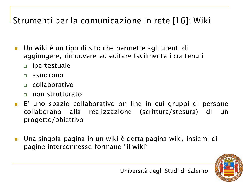 Strumenti per la comunicazione in rete [16]: Wiki